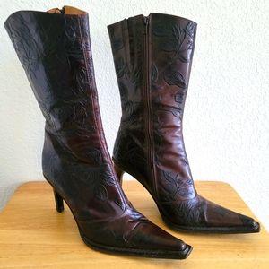 Andrew Stevens brown boots sz 40 (9) embossed